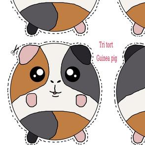 Tri tort guinea pig plush Pillows