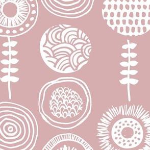 Small twigs autumn leaves and flowers Scandinavian summer fall mauve pink nursery JUMBO