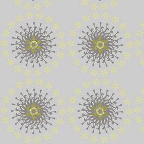 Flowers and sunshine - grey 1-01