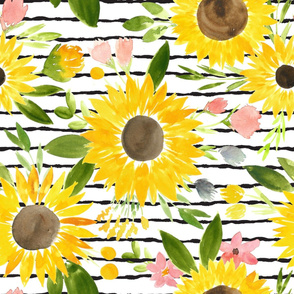 Sunflower - Thin Stripes - LARGE scale