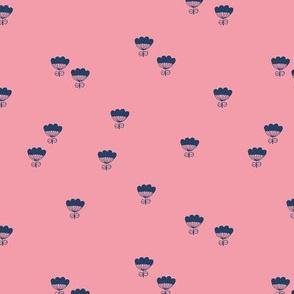 Little romantic flower minimal floral summer pink blue