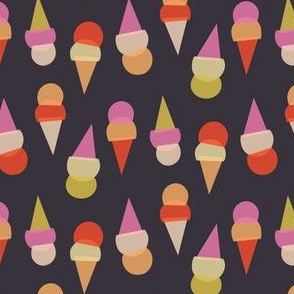 Abstract Ice Cream Cones - Brown