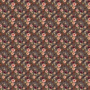 """1"""" Boone Fall Florals - Brown"""