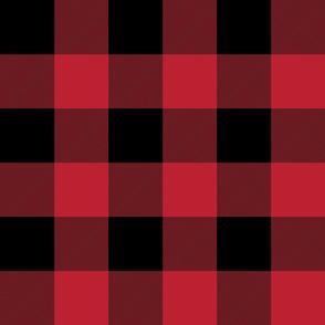 """jumbo plaid (3"""") red and black buffalo check LAD19"""