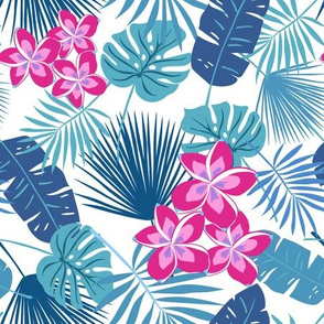 Tropical Leaves and frangipani
