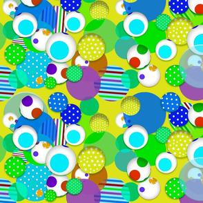 Fantasy Spheres (Citrus) 20inch repeat, David Rose Designs