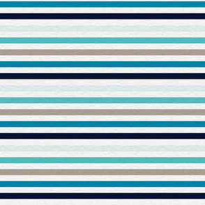 Sea Blues Vintage Stripe (A)- 1/2""