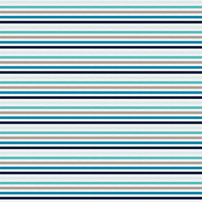 Sea Blues Vintage Stripe (A) - 1/4""