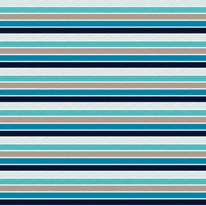 Sea Blues Vintage Stripe (B) - 1/2""