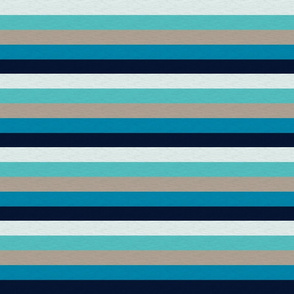 Sea Blues Vintage Stripe (C) - 1""