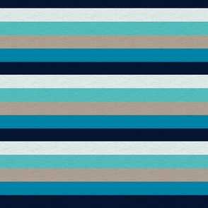 Sea Blues Vintage Stripe (C) - 1/2""
