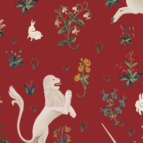 Lion and Unicorn red