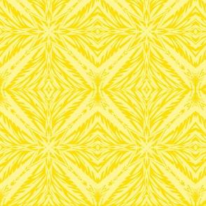 Jungle Diamonds (#6) of Morning Sunlight on Daffodil Yellow