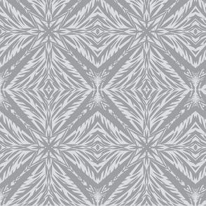 Jungle Diamonds (#9) of Mystic Grey on Silver Mist
