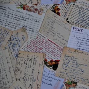 Mother's recipe cards