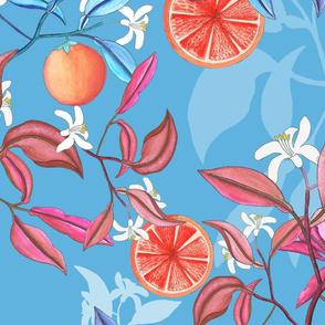 orange  garden pattern