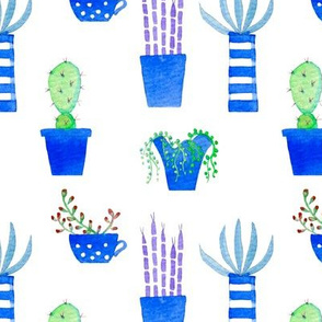 Watercolor Succulents and Cacti