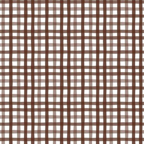 Gingham in Chocolate Large