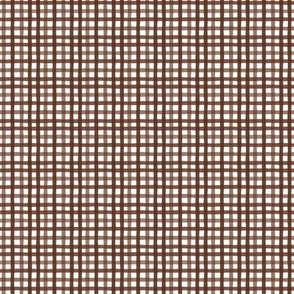 Gingham in Chocolate