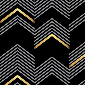 Black & Golden Chevron - Macro