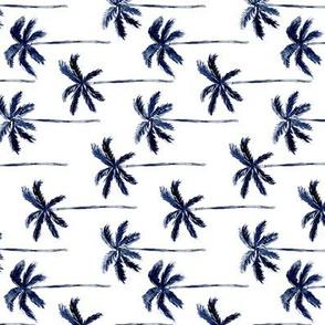palm trees - watercolor dark blue (90) C19BS