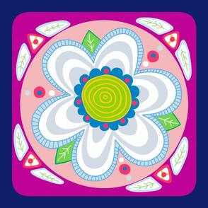 Happy Flower pillow topper aka creativity dot #13