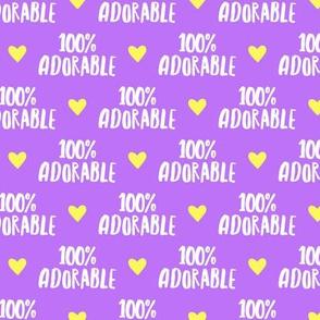 100% adorable - purple  - LAD19