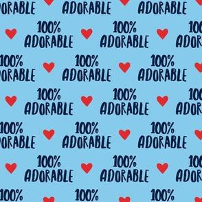 100% adorable - blue - LAD19