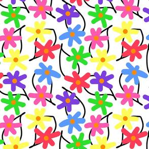 Mimi's Summer Garden #1 - white, medium