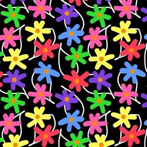 Mimi's Summer Garden #1 - black, medium