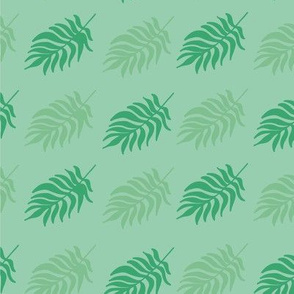 Green tropical pattern