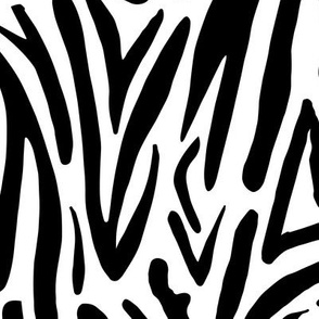 Minimal zebra wild life lovers abstract animal print monochrome trend black and white JUMBO