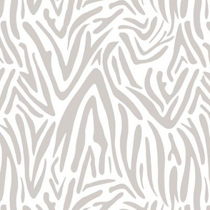 Minimal zebra wild life lovers abstract animal print monochrome trend soft neutral beige