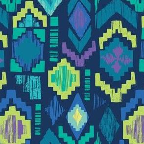 folk fiesta in blue