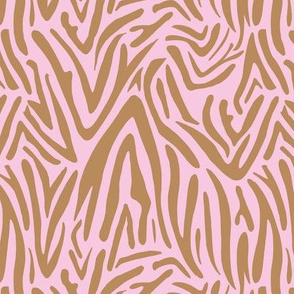 Minimal zebra wild life lovers abstract animal print monochrome trend pink cinnamon fall
