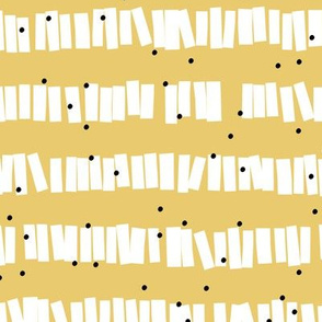 Minimal piñata paper confetti party abstract cut out stripes fall ochre yellow