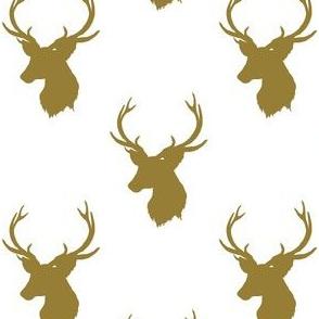 """4"""" Autumn Gold Deer"""