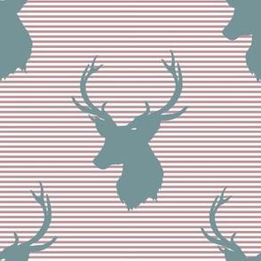 """8"""" Blue Deer with Rose Stripes"""