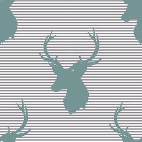 "8"" Blue Deer with Soft Grey Stripes"