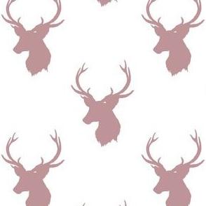 """4"""" Old Rose Deer Silhouette"""