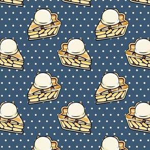 Apple pie à la Mode - dark blue polka dots - fall - LAD19
