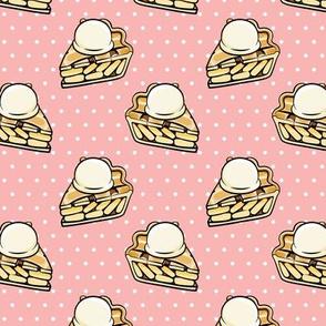 Apple pie à la Mode - pink polka dots - fall - LAD19