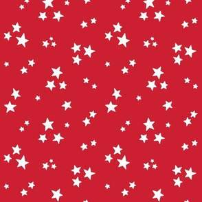 stars sm white on red || independence day USA american fourth of july 4th