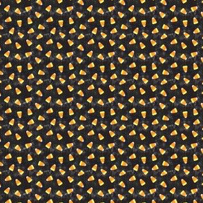 (micro scale) Candy corn - distressed black - halloween candy - LAD19BS
