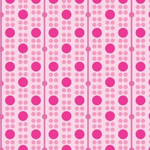 Big Pink Dots Explosion Geometric Pattern