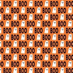 "(1/2"" scale) Boo - Ghost - Halloween fabric - orange - LAD19BS"