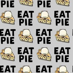 Eat Pie - Apple pie à la Mode - grey - fall - LAD19