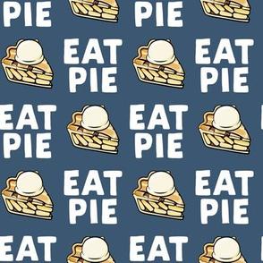 Eat Pie - Apple pie à la Mode - blue - fall - LAD19