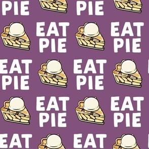 Eat Pie - Apple pie à la Mode - purple - fall - LAD19