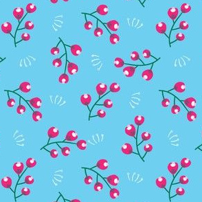 Bright berry flower fruit seamless pattern.